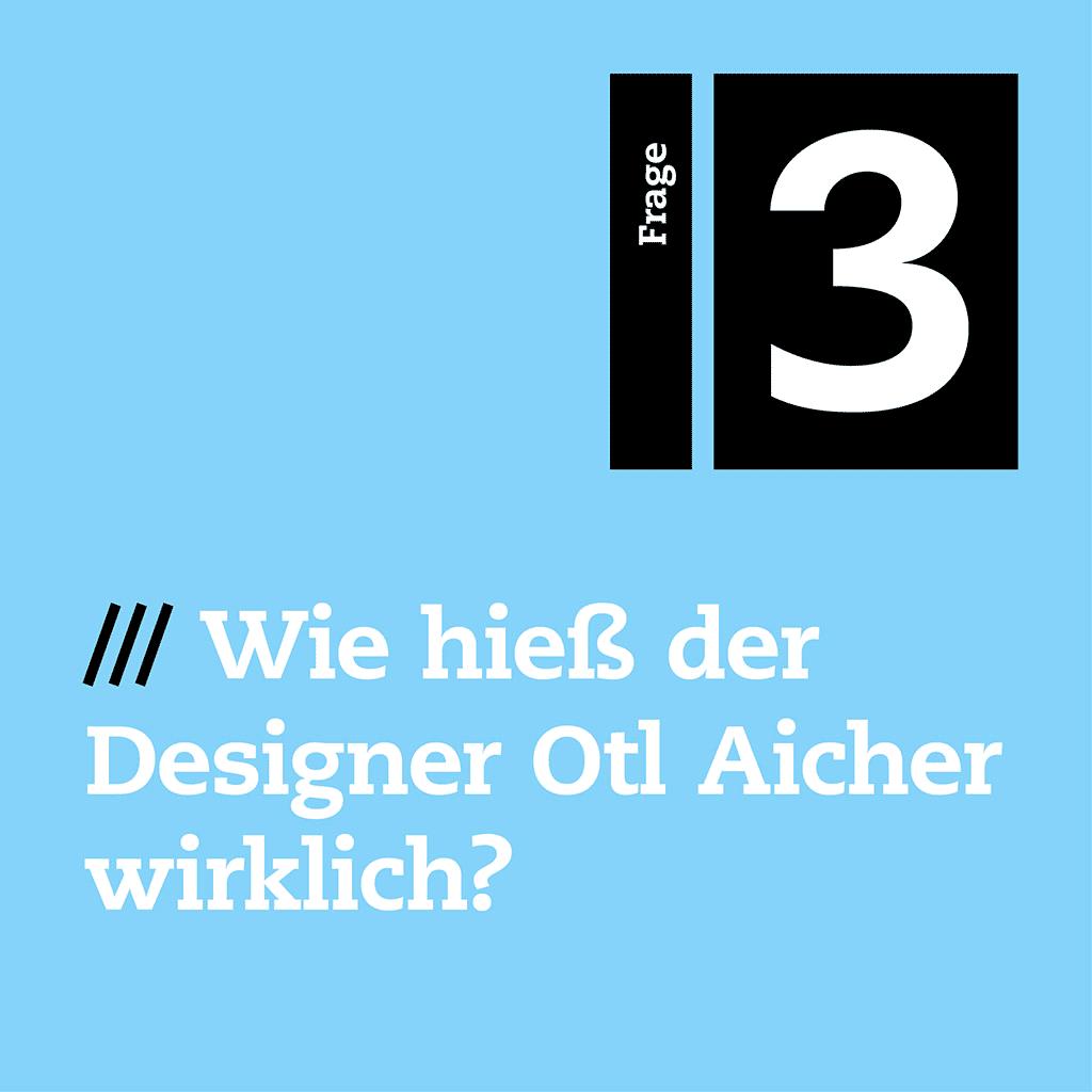Die dritte Frage von unserem Designquiz