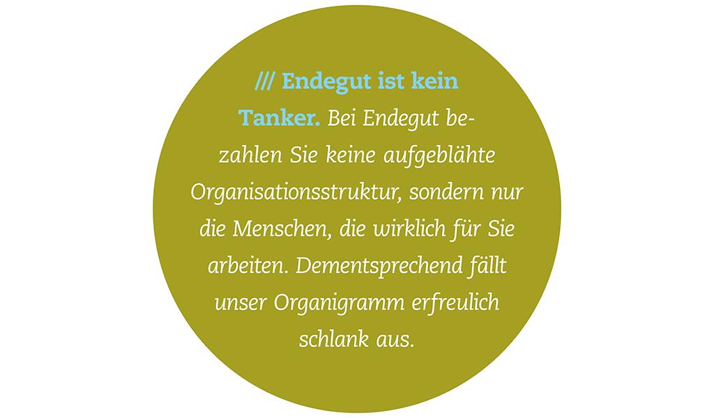 Beschreibungstext zum Organigramm von Endegut