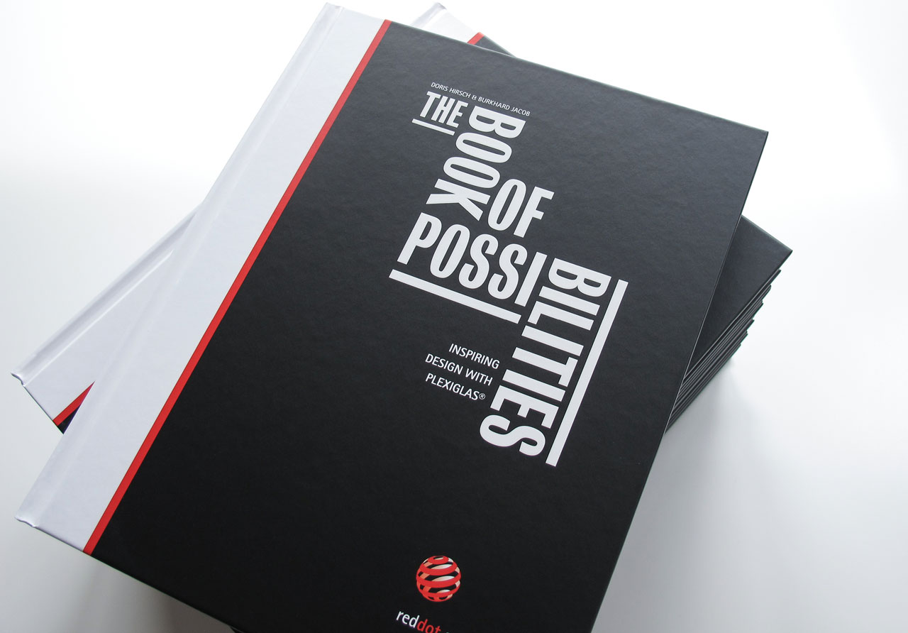 The Book of Possibilities – Inspiring Design with PLEXIGLAS®: Titelseite