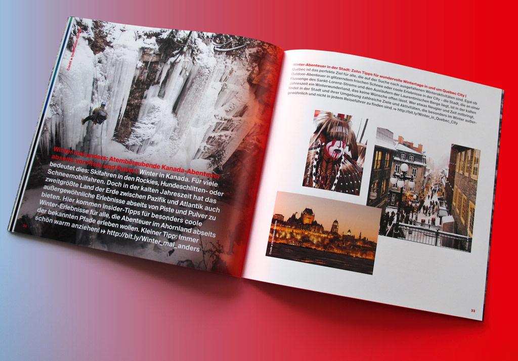 Pressebroschüre für Destination Canada: Innenseiten